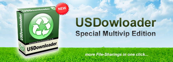 Download special edition USDownloader to download any files from 15 popular filesharings